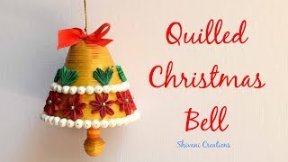 How to make Christmas Bell/ Quilling Christmas Bell/ Quilled Jingle Bell