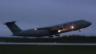 Loud Lockheed C-5A Galaxy Takeoff