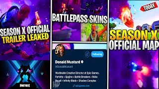 Fortnite FULL SEASON X/10 CINEMATIC TRAILER LEAKED! Battlepass Skins, Carte, Sneak Peaks!