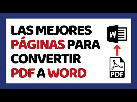 Las 5 Mejores Páginas Para Convertir PDF A Word 2019