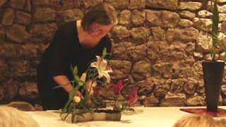 August 2018 Ohara Ikebana Demonstrations during the ERC 2018 in Bruges