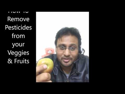 how to remove chemicals and pesticides from fruits
