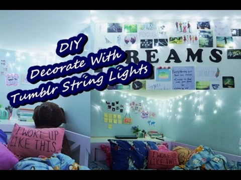 DIY DECORATE WITH TUMBLR STRING LIGHTS (Bahasa Indonesia)