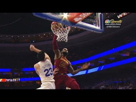 LeBron James Dunks on Ersan Ilyasova and Stares Him Down Shocking Kevin Love!