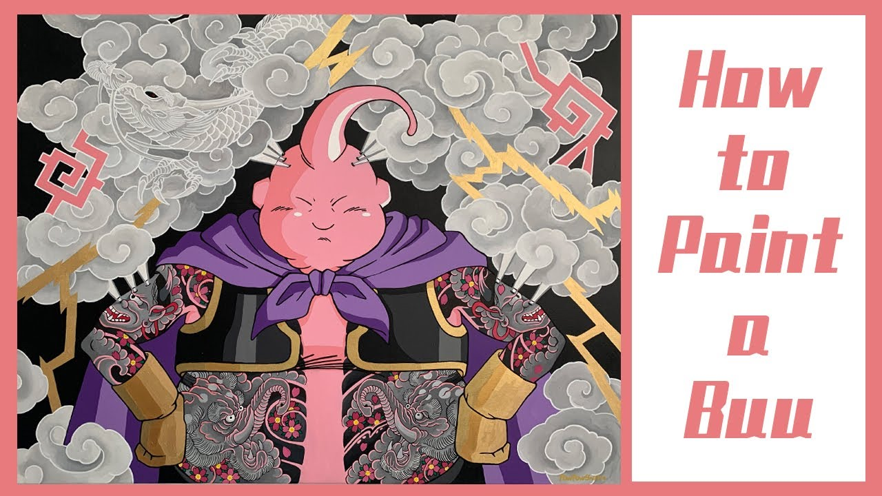 【泡泡蛇】How to paint a Dragon Ball : Buu 七龍珠魔人普烏(布歐)繪製過程大公開!(縮時版)