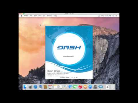 Dash: QT Wallet Installation Guide - MAC =G15E02