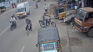 Accident caught on camera in hyderabad