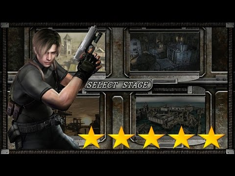 Resident Evil 4 HD (PS4) Mercenaries Leon 5 Stars ALL STAGES