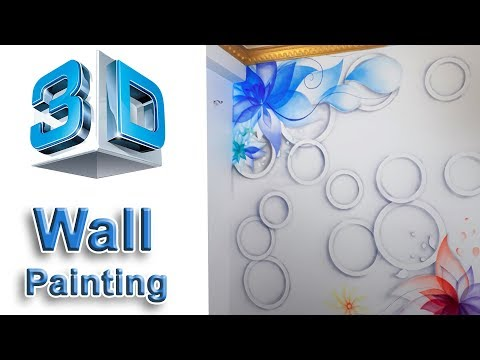 3d  wall painting modern airbrush mural wall painting tutorial