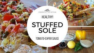 STUFFED SOLE WITH TOMATO-CAPER SAUCE
