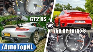 Porsche 911 GT2 RS 700HP vs 750HP Porsche 911 Turbo S 0-250km/h SOUND & AUTOBAHN POV by AutoTopNL