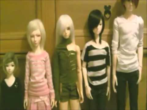 BJD height comparison. 70cm, SD and MSD size. - YouTube