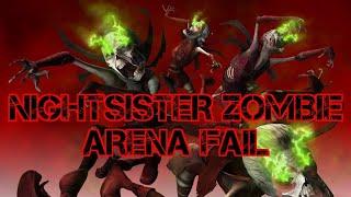 Nightsister Zombie Loop - Star Wars Galaxy of Heroes Arena Fail