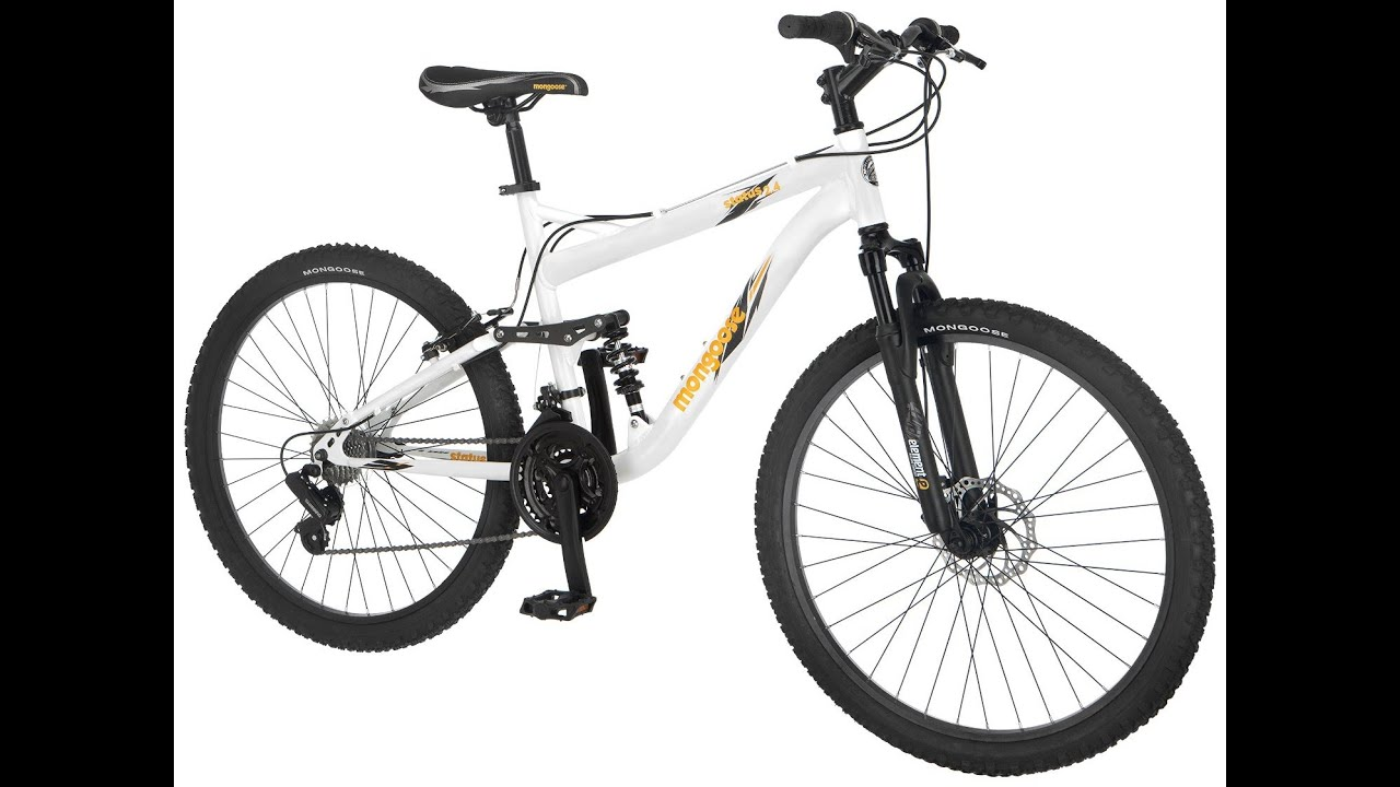 Mongoose Men S Status 2 4 Full Suspension Bicycle 26 Inch Wheels