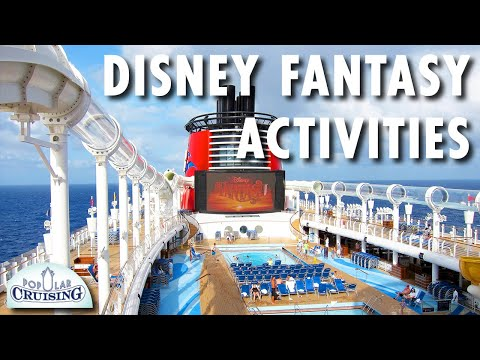 Disney Fantasy Tour & Disney Fantasy Review: Activities ~ Disney Cruise Line ~ Cruise Ship Review