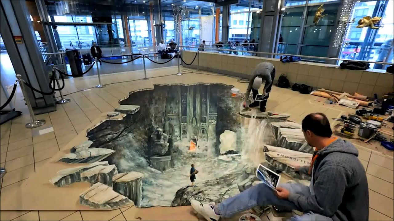 Animated Jungle Wallpaper 3d Street Art Oslo Hobbit 2013 Youtube