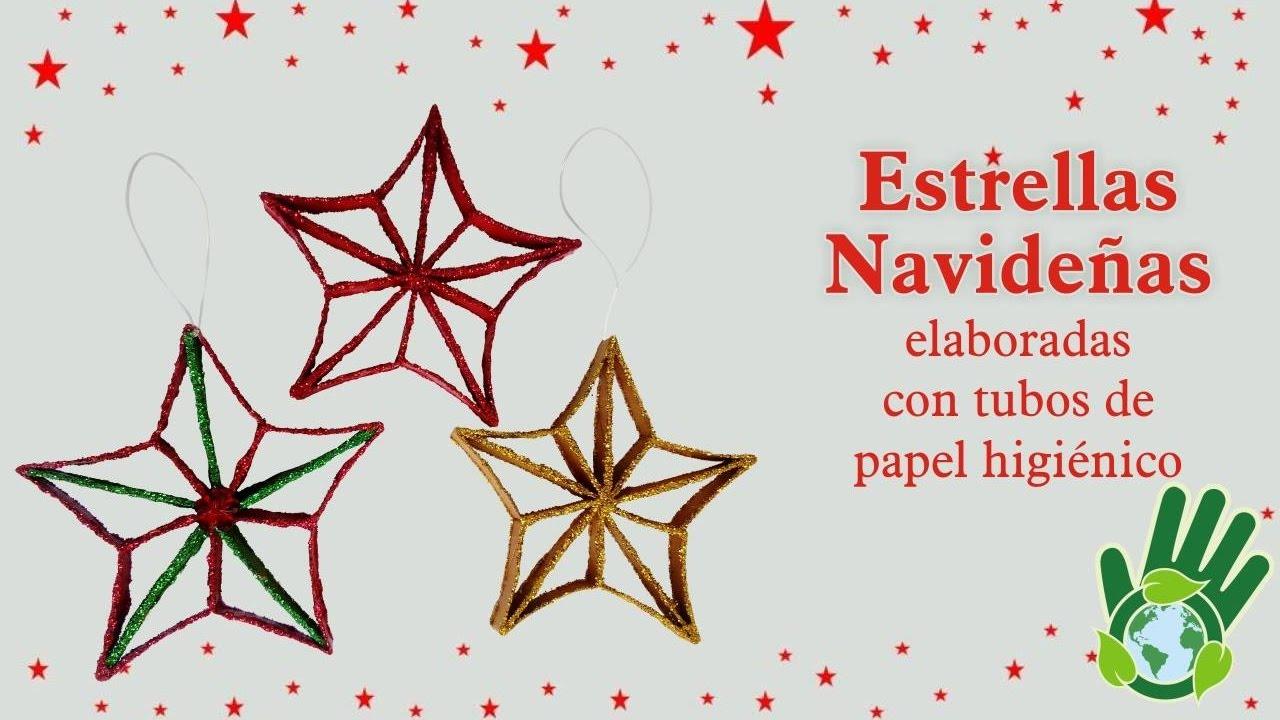 estrella navideña elaborada con tubos de papel higiénico youtube