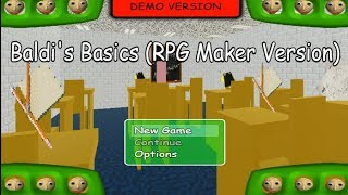 Baldi's Basics in Education and Learning (RPG Maker Edition) Demo Good Ending