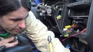 How to disassemble peugeot 106 dashboard - Heater matrix radiator replacement part2