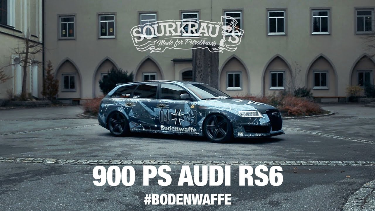900 Ps Audi Rs6 Bodenwaffe Engl Sub Youtube