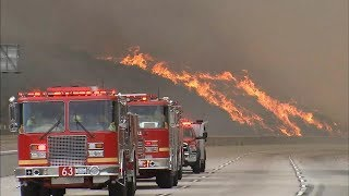 Video LA battles largest wildfire in city's history download MP3, 3GP, MP4, WEBM, AVI, FLV September 2017