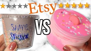 1 STAR vs 5 STAR Etsy Slime Shop Review!