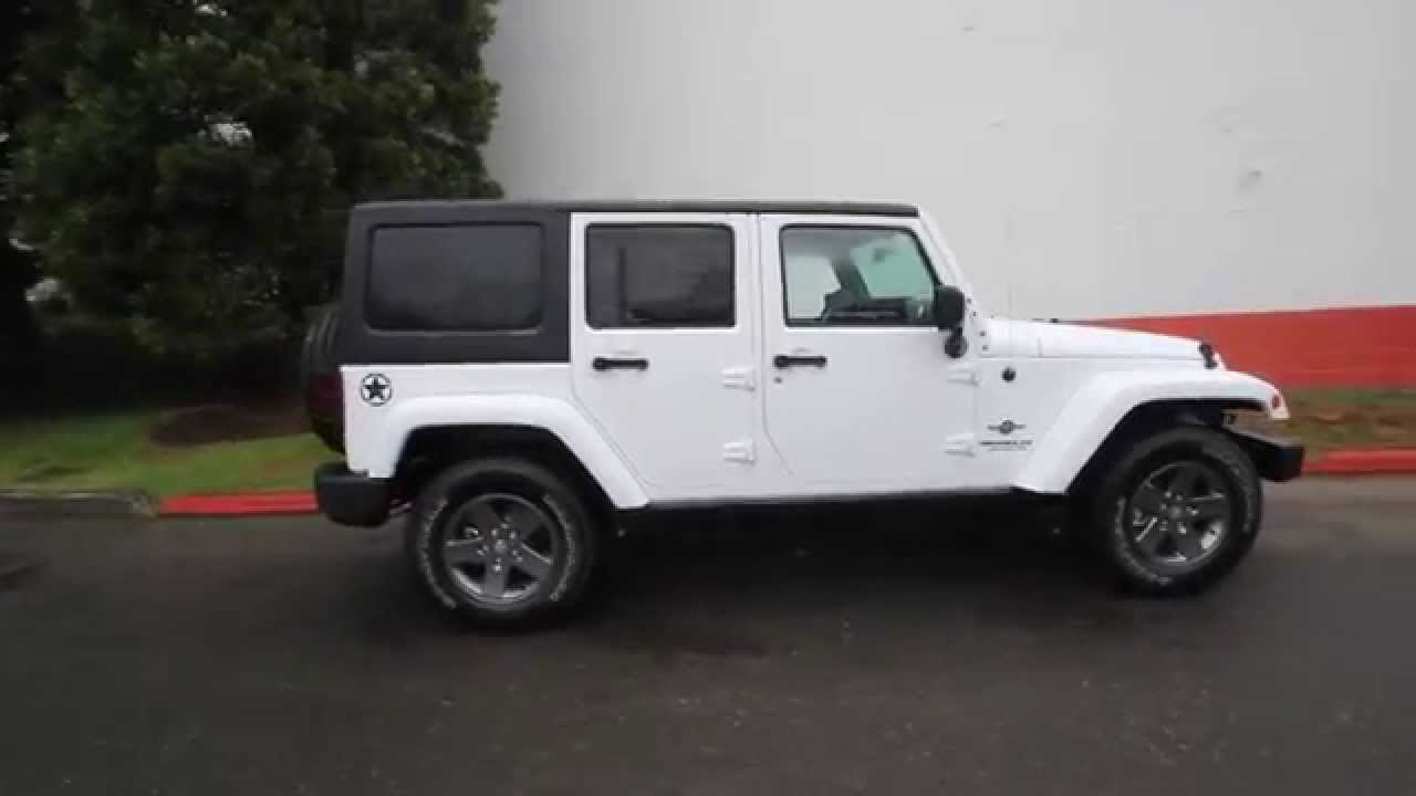 2015 Jeep Wrangler Unlimited Sport White