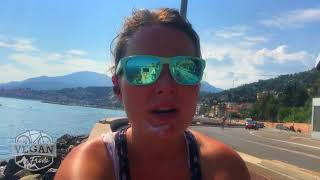 Boarder between France and Italy , cycle touring Europe
