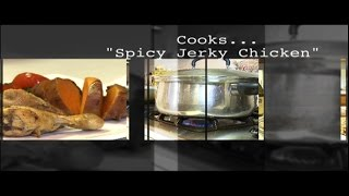 "Chef Julio Rodriguez cooks ""Spicy Jerk Chicken"" & Patitas con Gabonzos"