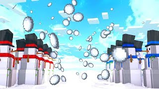 10х10 НОВОГОДНЯЯ БИТВА СНЕГОВИКОВ В МАЙНКРАФТЕ! Minecraft SnowMan Fight