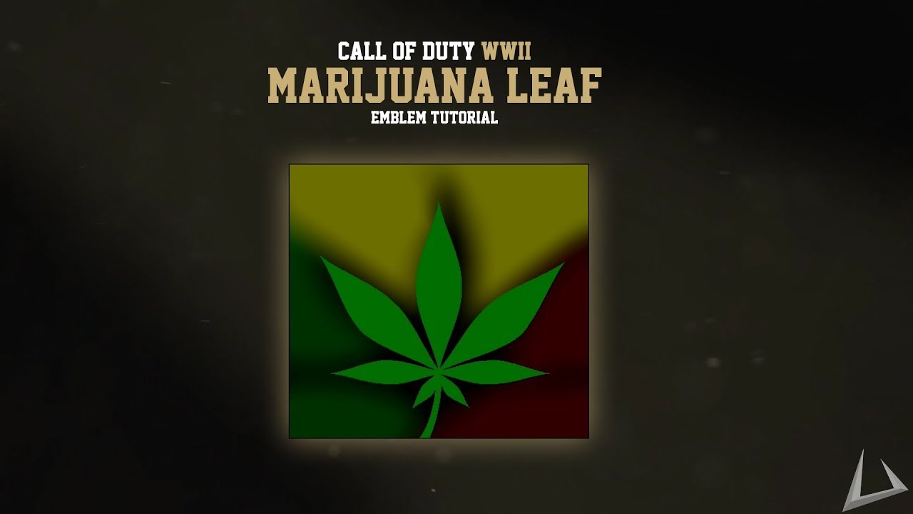 Marijuana Leaf Emblem - Call of Duty: WW2 Emblem Tutorials #4