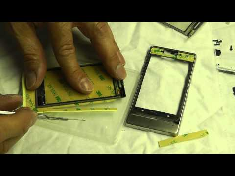 Instructions how to replace digitizer / display on HTC Touch Diamond 2 T5353