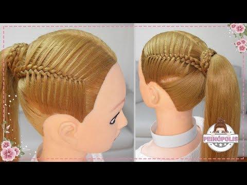 Coletas Faciles Con Trenzas Para Ninas Peinados Rapidos Y Bonitos