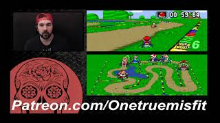 Super Mario Kart (SNES) Flower Cup 100cc