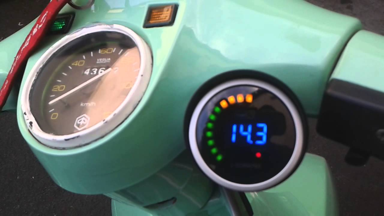 Vespa px mit tachometer made by alperebinc - YouTube