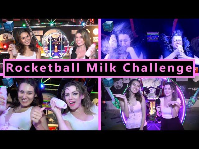 Megan & Tanya get messy - Rocket-ball Milk Challenge (9 April 2021)