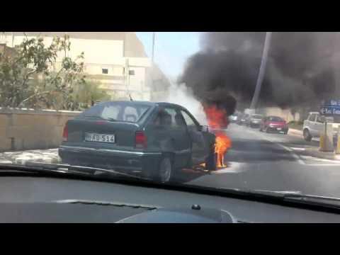 News: Car Burning Malta - 15 June 2012