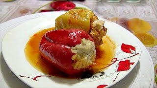 Болгарский перец фаршированный рисом с мясом рецепт в мультиварке peppers stuffed with meat and rice