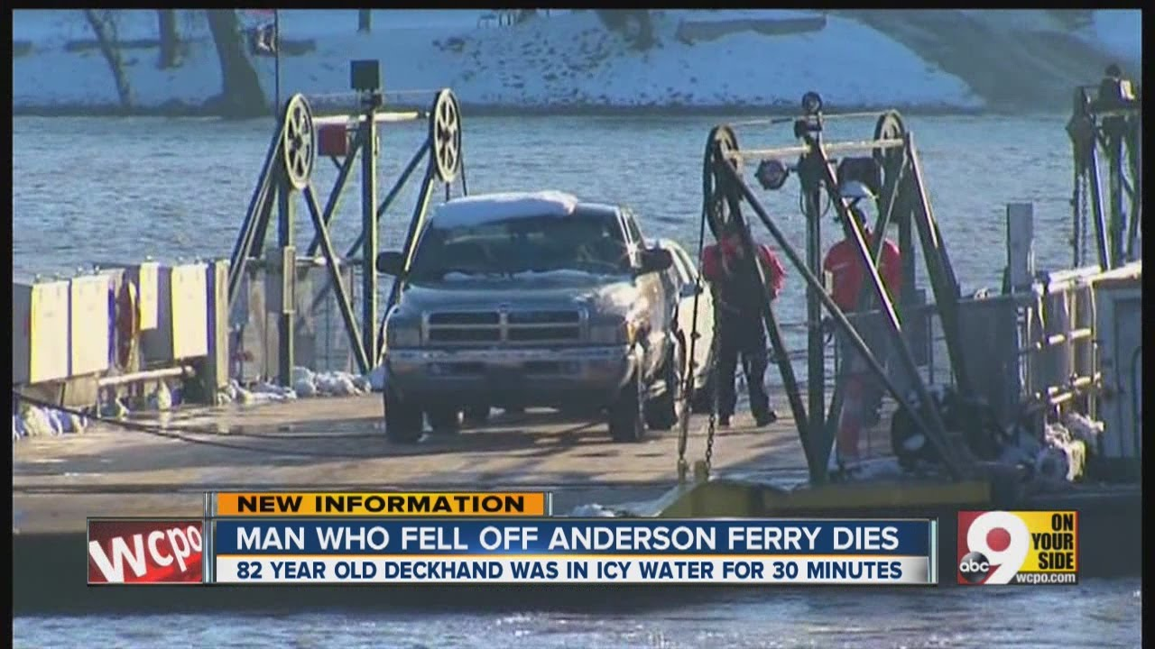 Anderson Ferry man dies after falling overboard