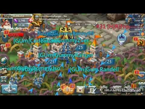 Kingdom Clash Fort Defence GUm Vs K31 {lords Mobile}