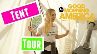 Alisha Marie Tent Tour | Alisha Goes Camping in Montana with GMA