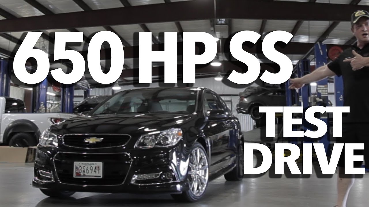 650 HP Supercharged Chevy SS Test Drive with John ...
