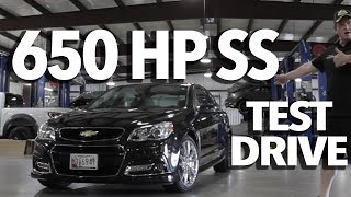 650 HP Supercharged Chevy SS Test Drive with John Hennessey