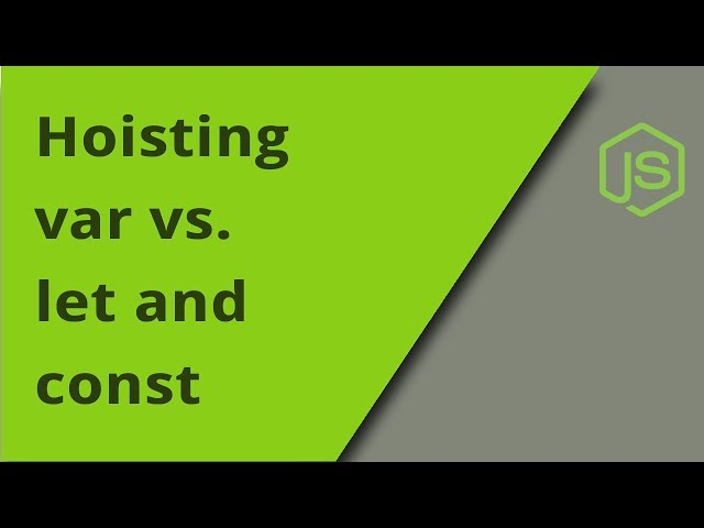 Hoisting with var vs let (and const)