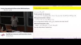 Jérôme Buzzi: Equilibrium meaṡures and homoclinic classes