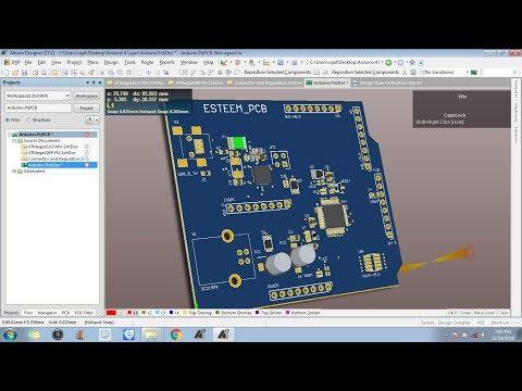 4 Layers PCB Designing in Altium : Layout Designing - YouTube