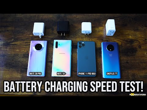 OnePlus 7T Vs Mate 30 Pro Vs IPhone 11 Pro Max Vs Note 10 +: Ultimate Fast Charging Test😯!!!