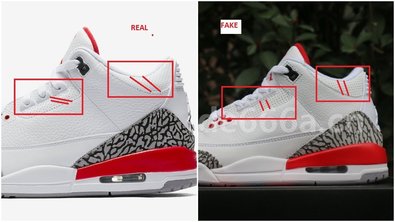 12285fc02d600 Fake Air Jordan 3 III Katrina Spotted- Quick Tips To Identify Them ...