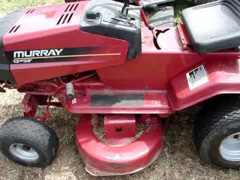Nice 10 Murray Tractor 12hp 38inch Cut Youtube