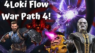 Flow War Crazy Path 4 Run With CapIW! 4Loki! Season 18 #5! - Marvel Contest of Champions